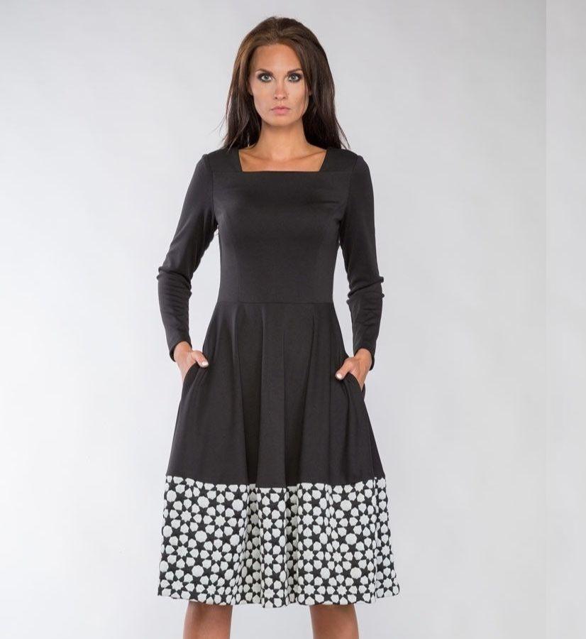Элегантное платье с длинным рукавом LalaStyle 1140