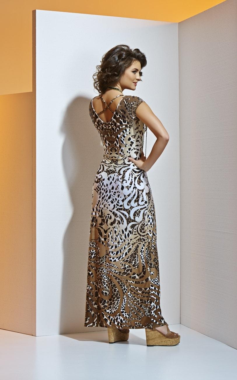 Длинное летнее платье А4 015