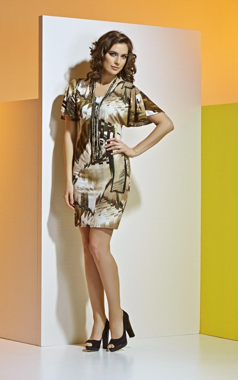Платье с коротким рукавом А4 042