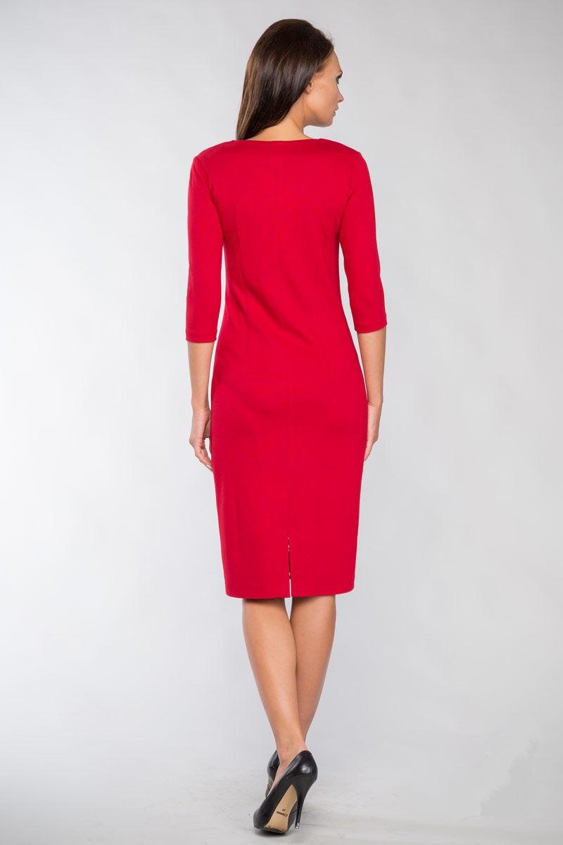 Красное платье LalaStyle 1098-40