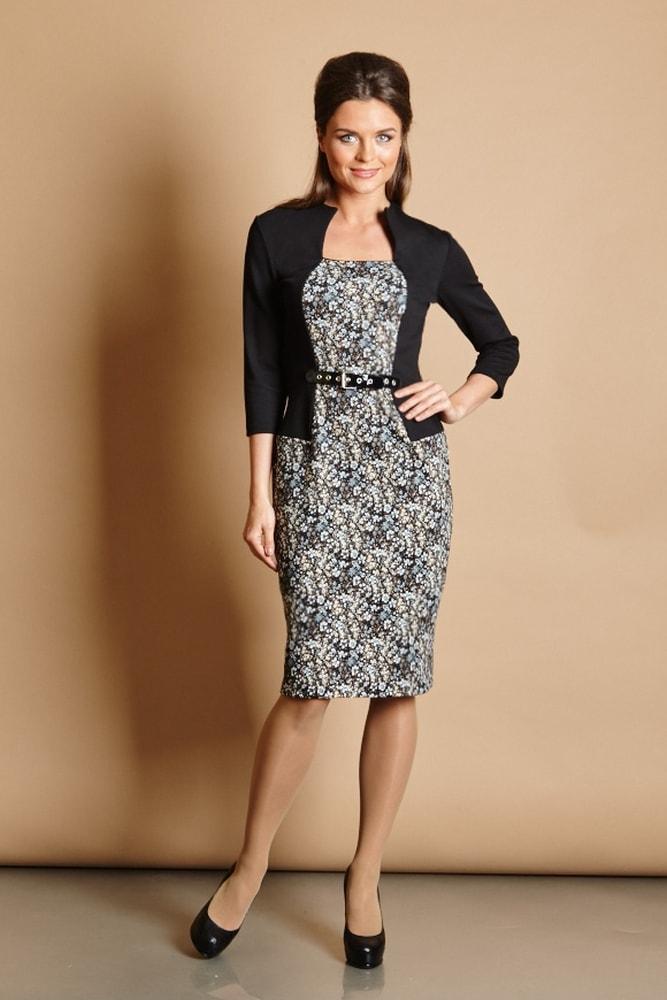 Платье в офис TopDesign В5 071