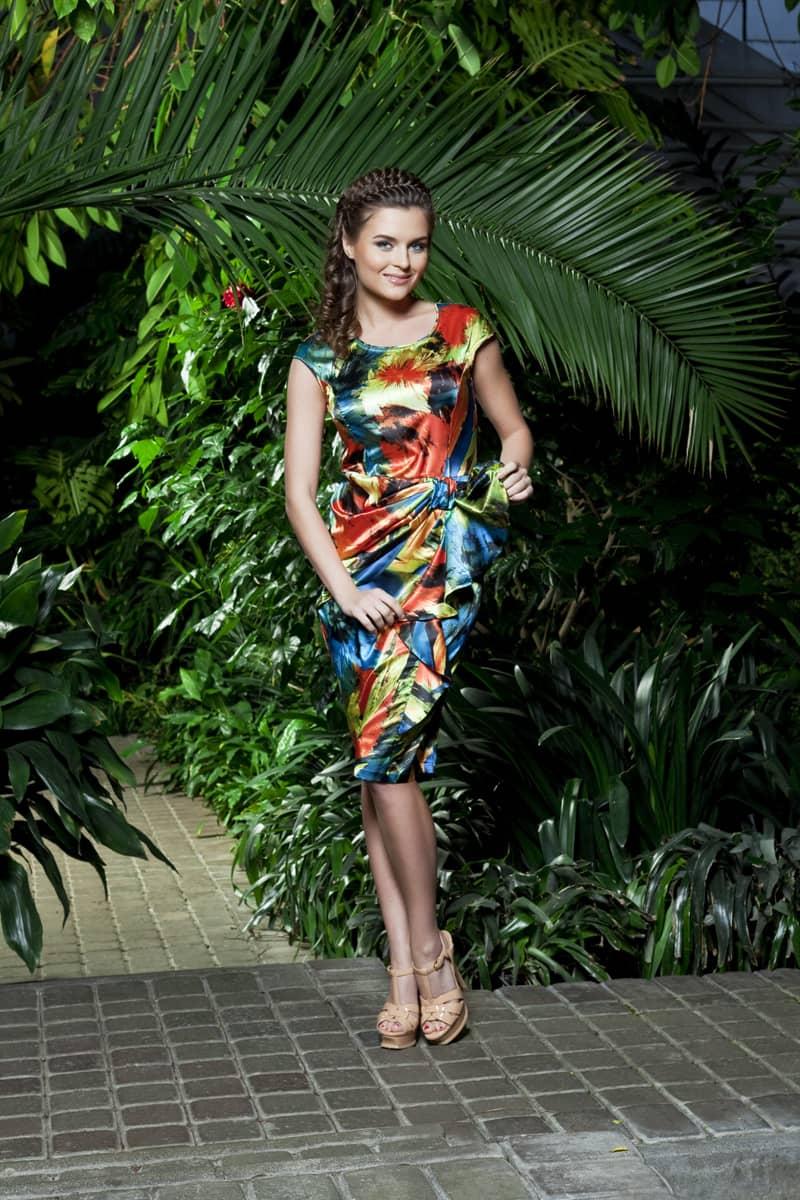 Нарядное платье на лето Top Design Premium РА3 47