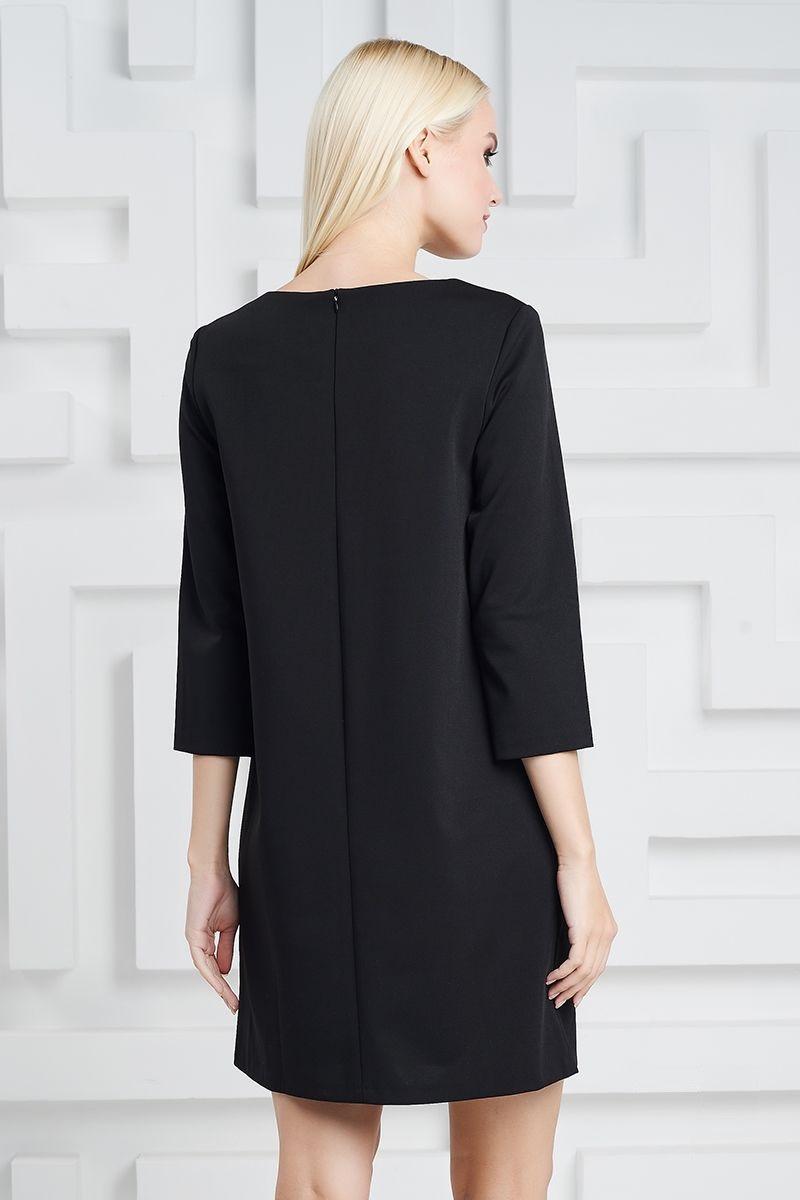 Черное элегантное платье LalaStyle 1309