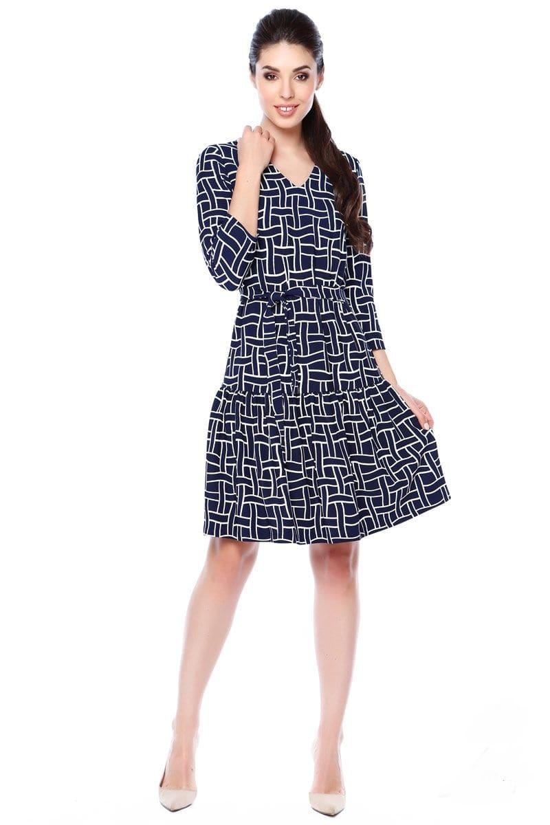 Платье с поясом Lala Style 1355-88