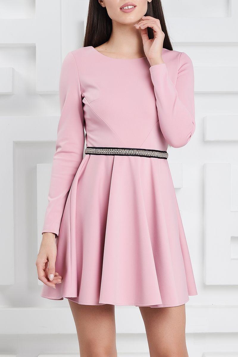 Розовое мини платье LalaStyle 1370