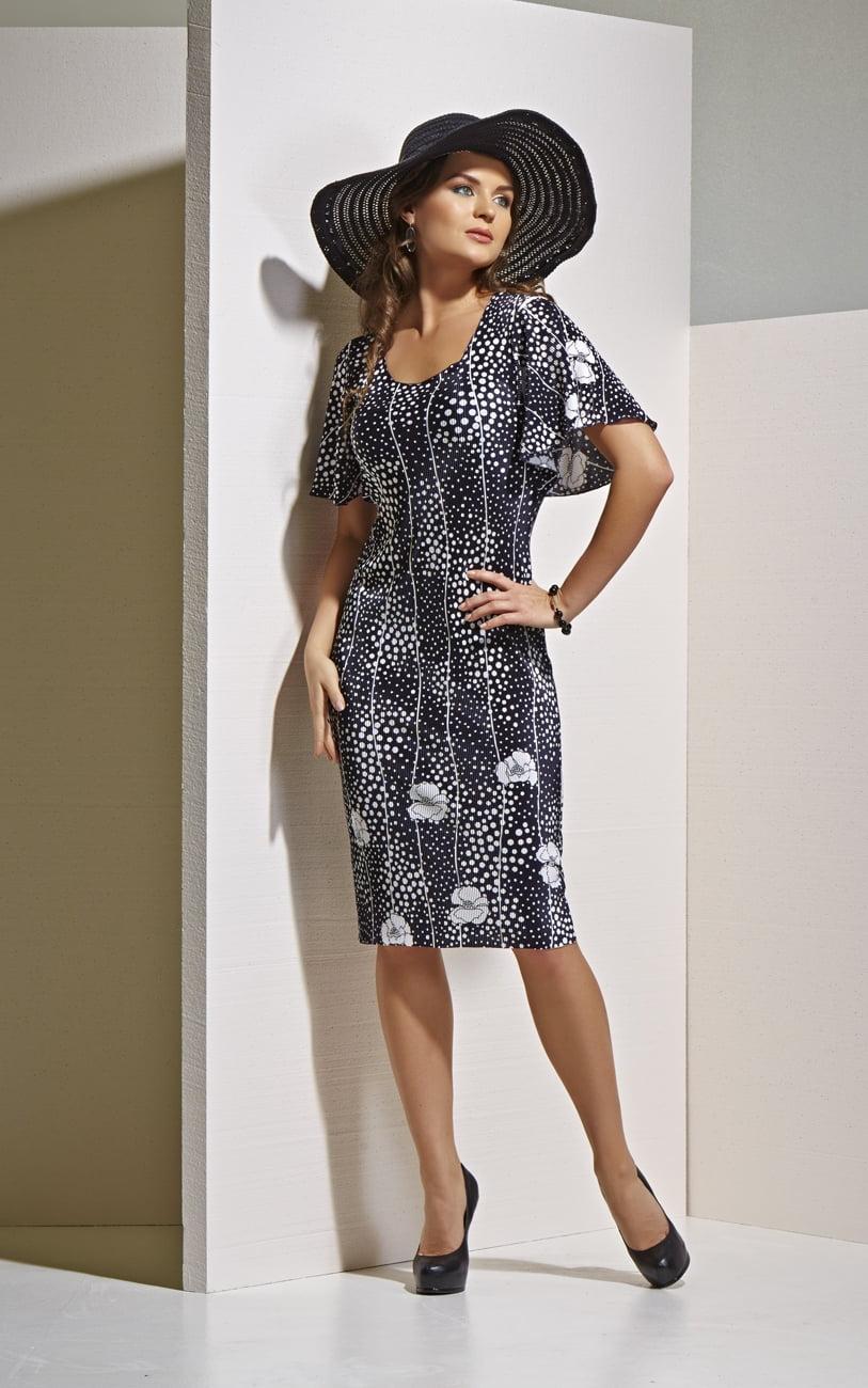 Плиссированное платье Top Desing А4 043