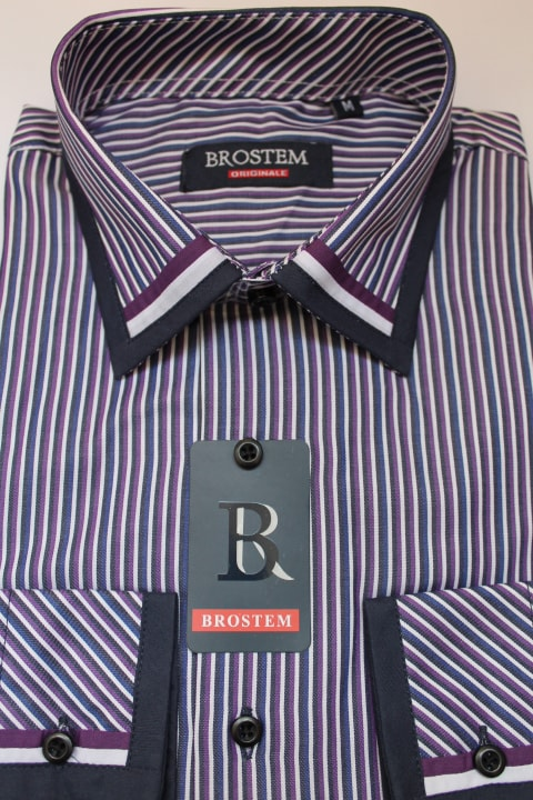 Красивая рубашка с отделкой Brostem 979-2