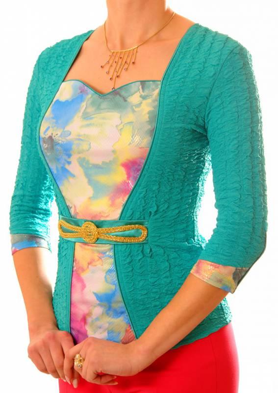 Облегающая блузка с красивым декольте 120 TheDistinctive