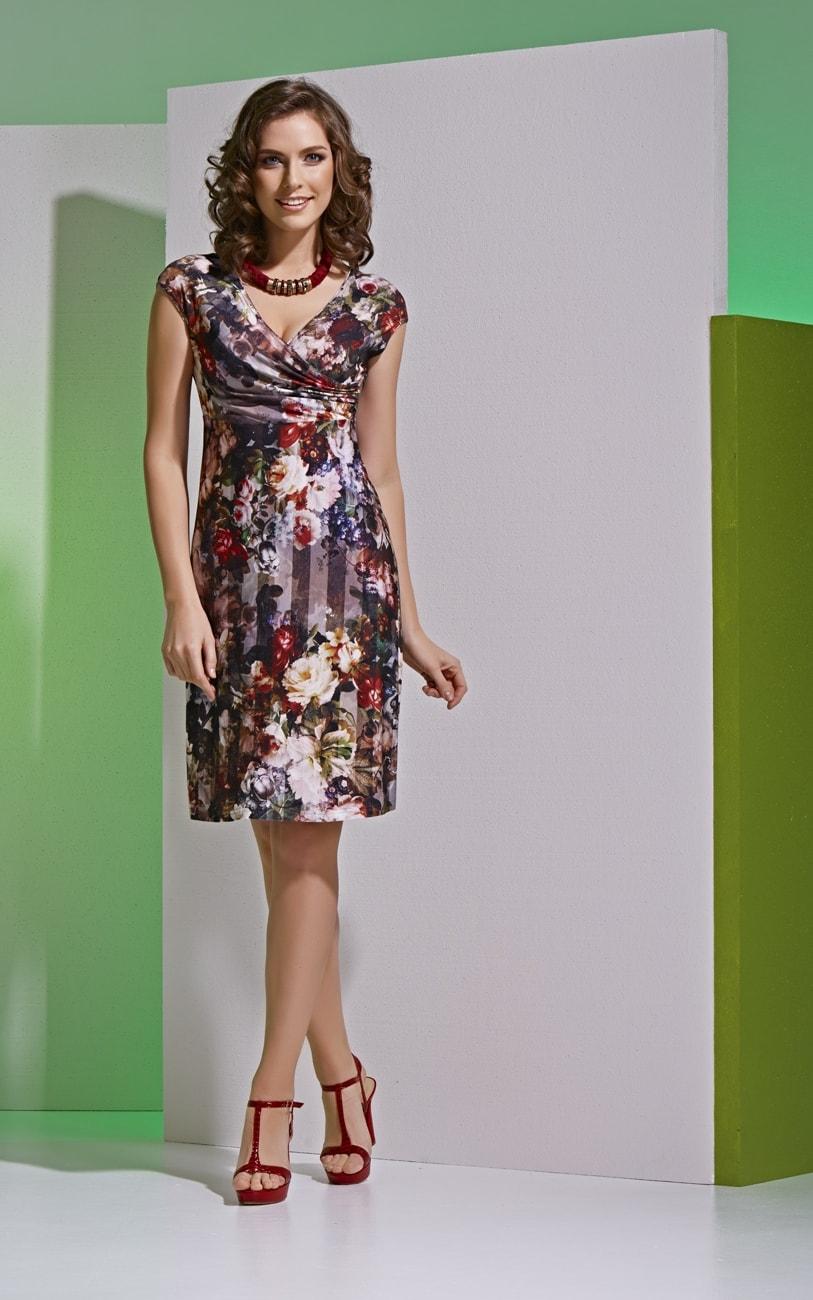 Платье с цветочным принтом Top Design А4 064