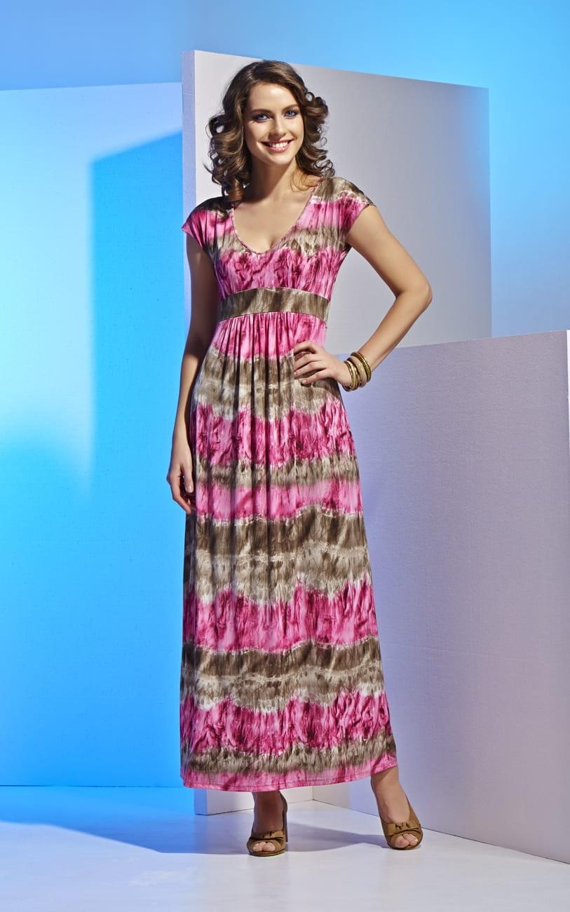 Летнее длинное платье Top Design А4 011