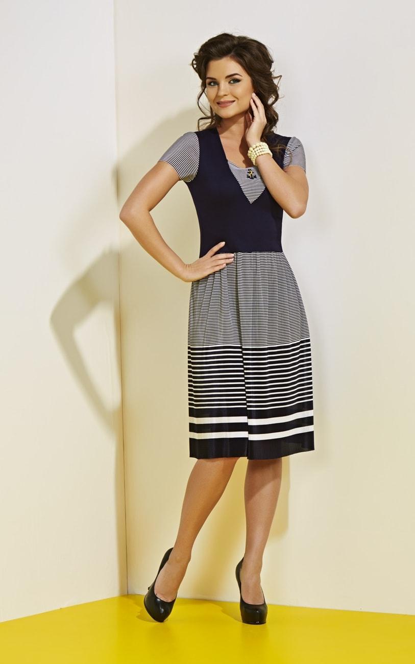 Платье в морском стиле Top Design А4 054