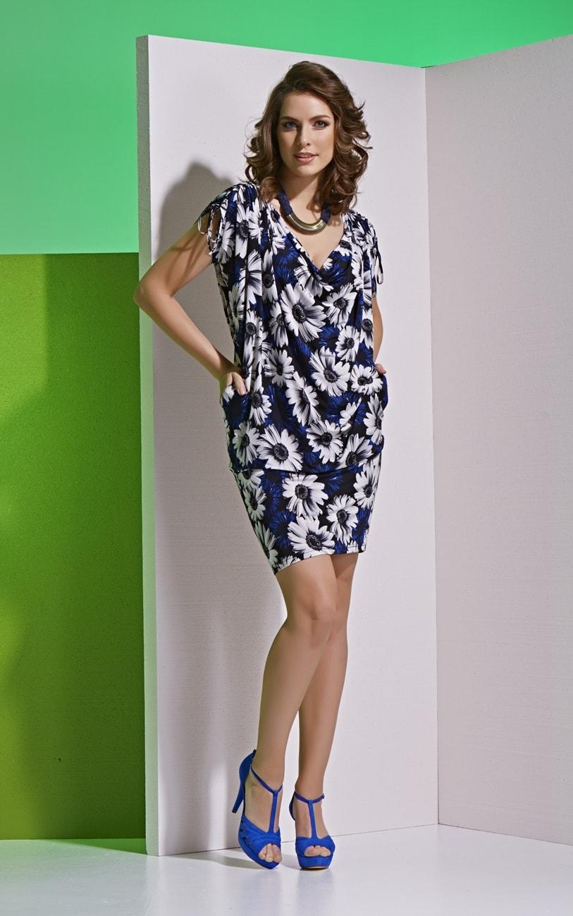 Летнее платье с цветочным принтом Top Design А4 021