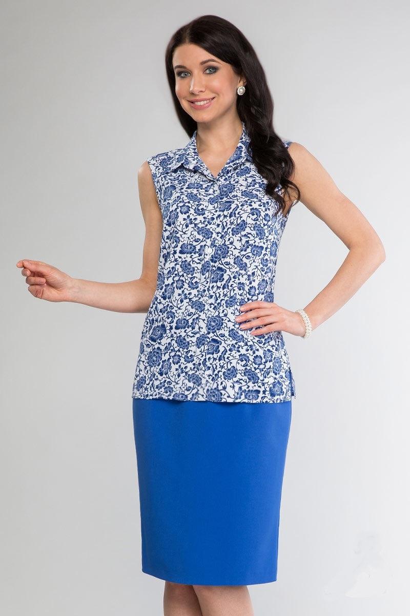 Женская блузка на пуговицах LalaStyle 1055-11