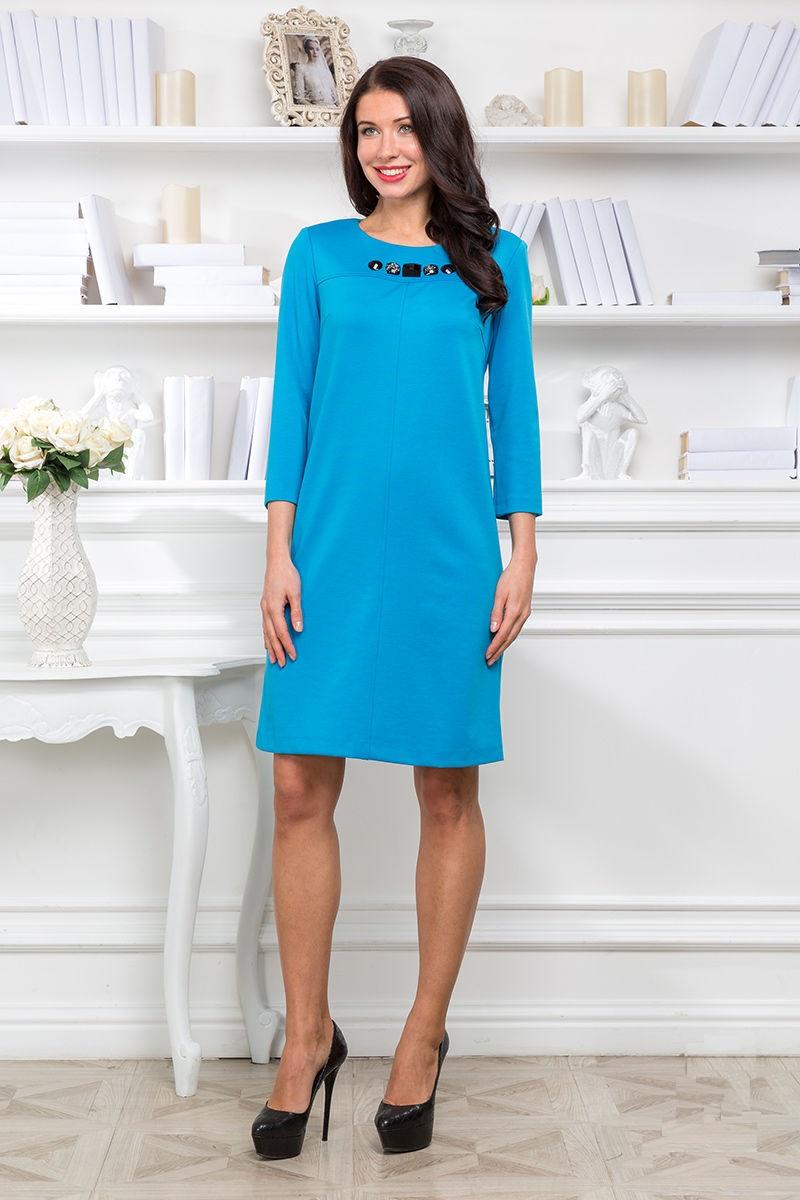 Голубое платье Lala Style 1132-73
