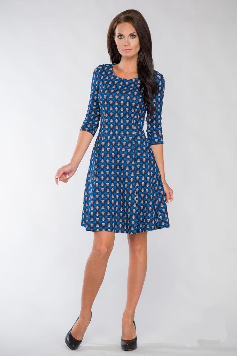 Изящное платье с расклёшенной юбкой LalaStyle 1091-72