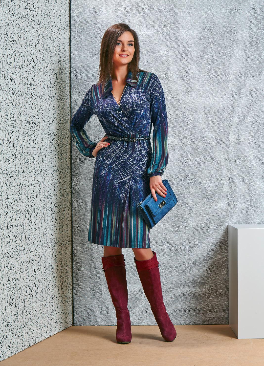 Платье со стильным воротничком TopDesign В4 035