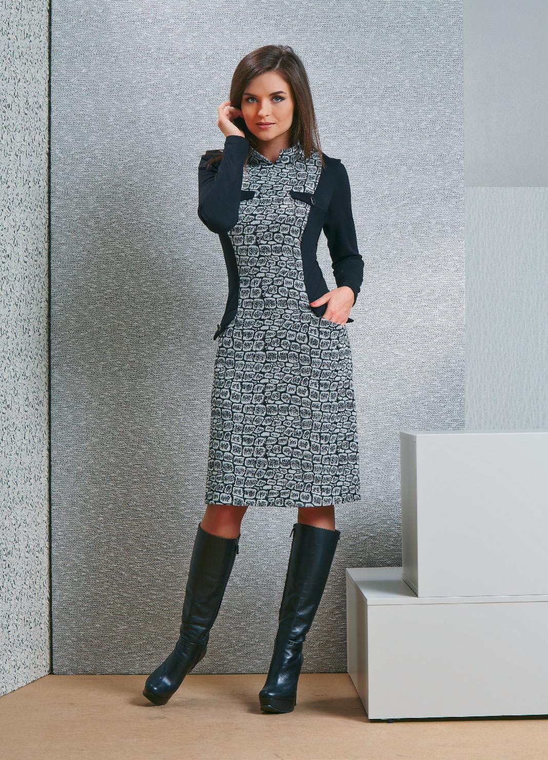 Модное платье TopDesign В4 064