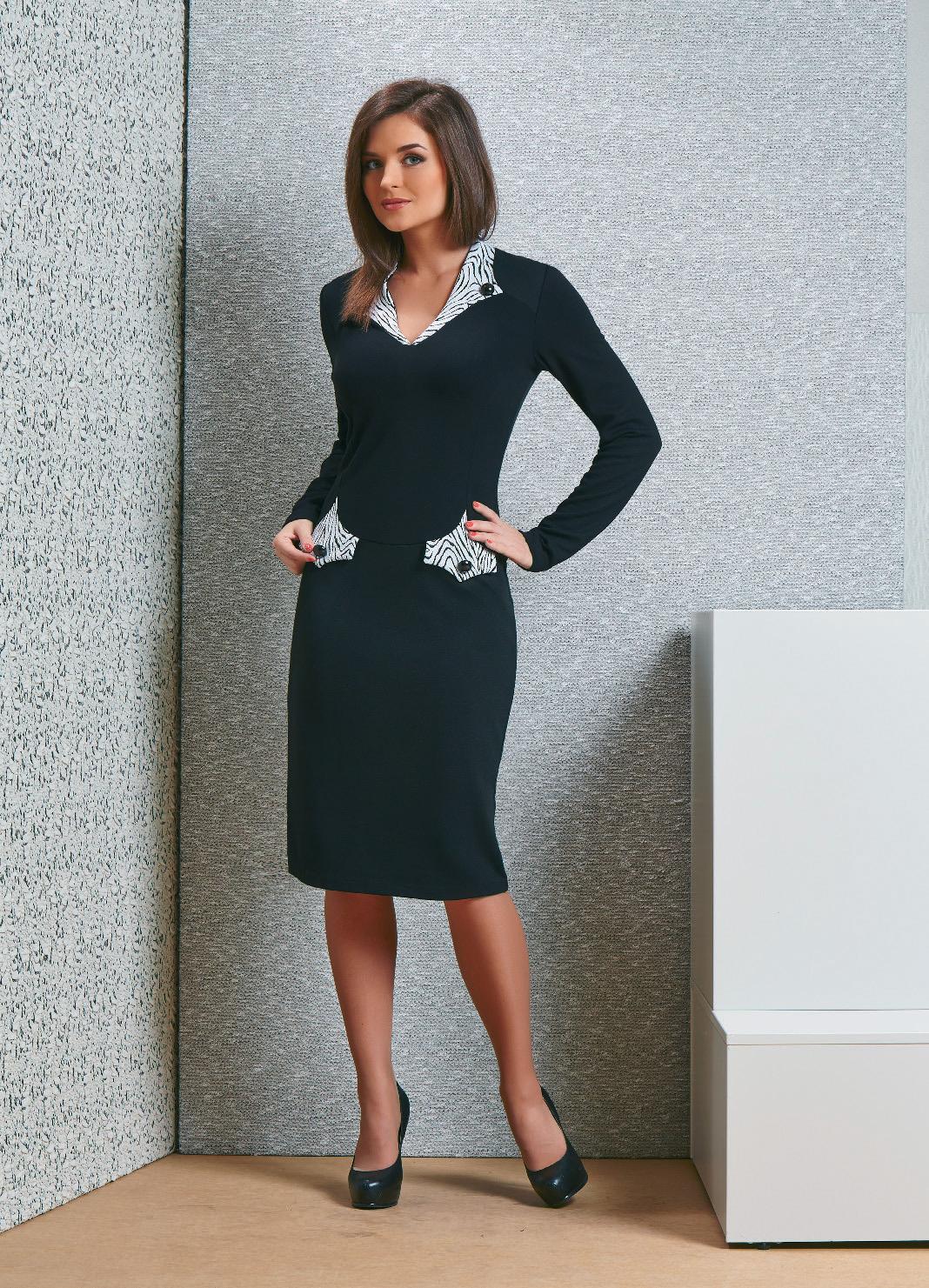 Модное деловое платье TopDesign В4 051