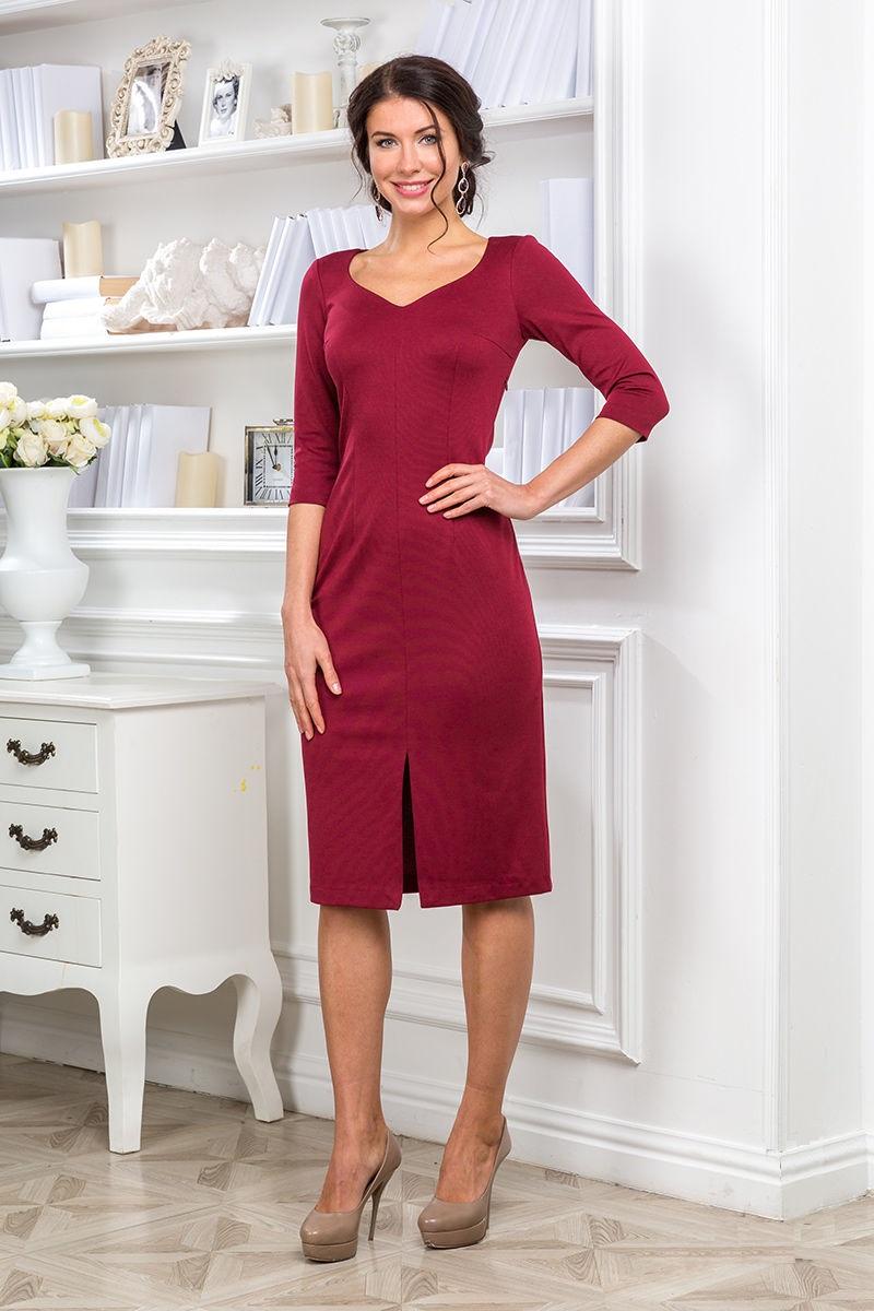 Платье с разрезом спереди Lala Style 1133-28