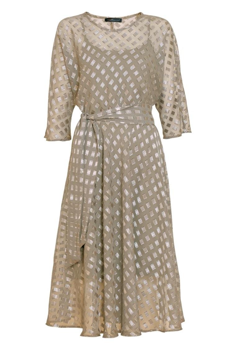 Нарядное платье золотистого цвета NB7 13