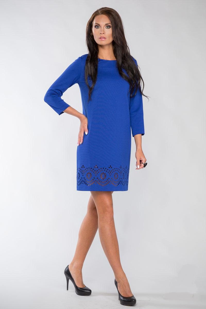 Платье А-образного силуэта с рукавом 3/4 Lala Style 1097-26