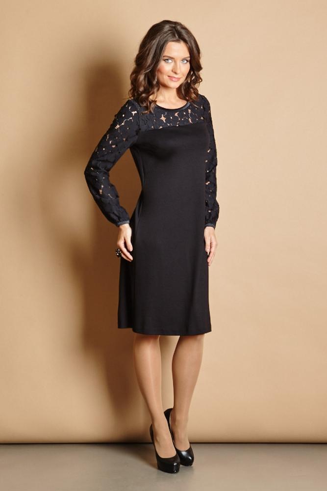 Черное вечернее платье TopDesign РВ5 42