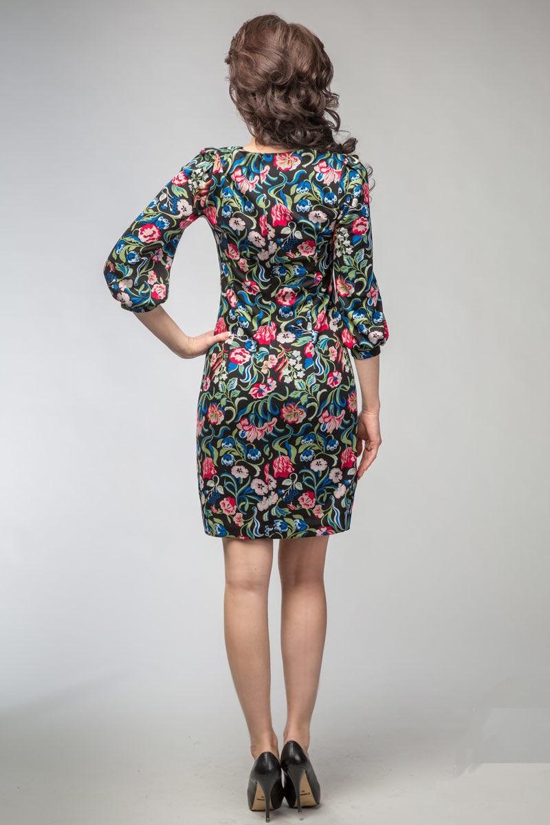 Платье прилегающего силуэта LalaStyle 999-48