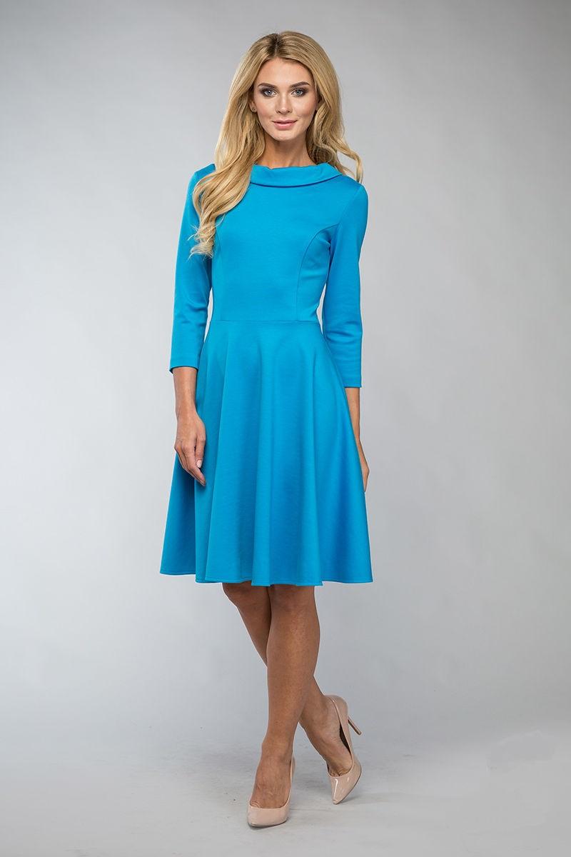 Красивое трикотажное платье LalaStyle 1096-73