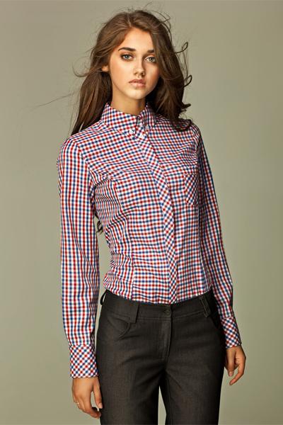 Рубашка Nife K37 в красную клетку