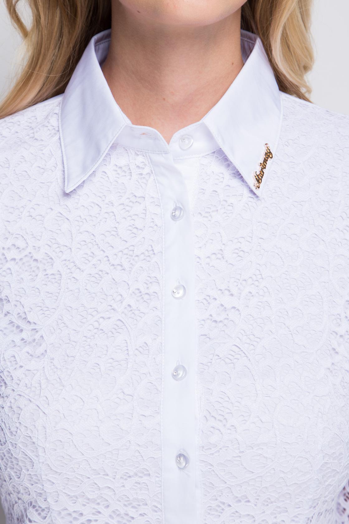 Белая ажурная женская рубашка Marimay 905-1337