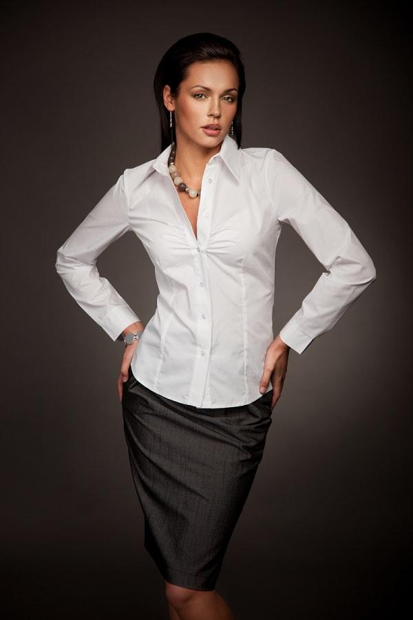 Белая женская рубашка Nife К24