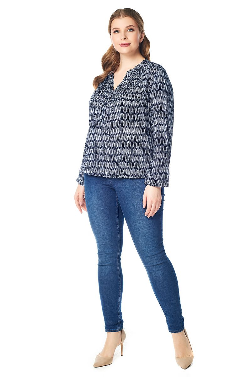 Летняя блузка большого размера LalaStyle 1430-269