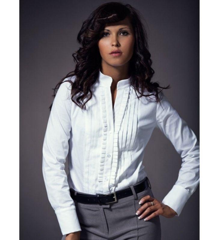 Элегантная рубашка с рюшами Nife К11