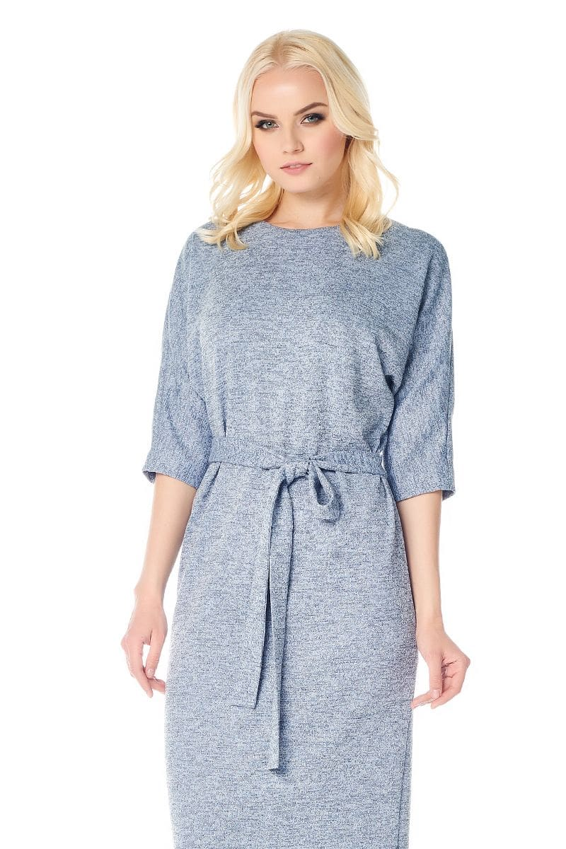 Голубое платье LalaStyle W01068