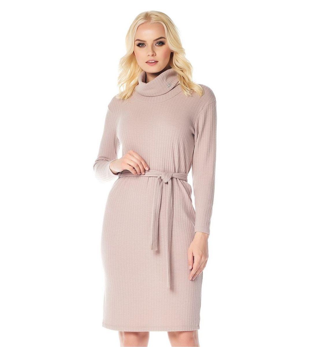 Красивое платье цвета розовая пудра LalaStyle W01018
