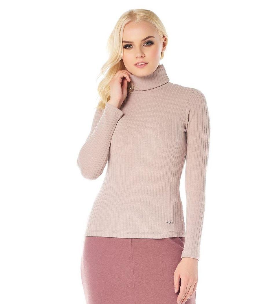 Водолазка цвет розовая пудра LalaStyle W08016