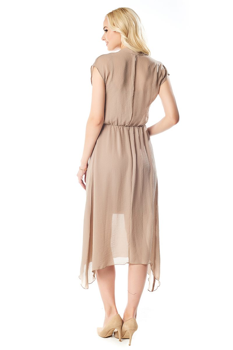 Летние платье цвета капучино LalaStyle 1406