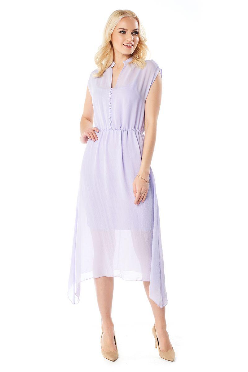 Сиреневое летние платье LalaStyle 1406