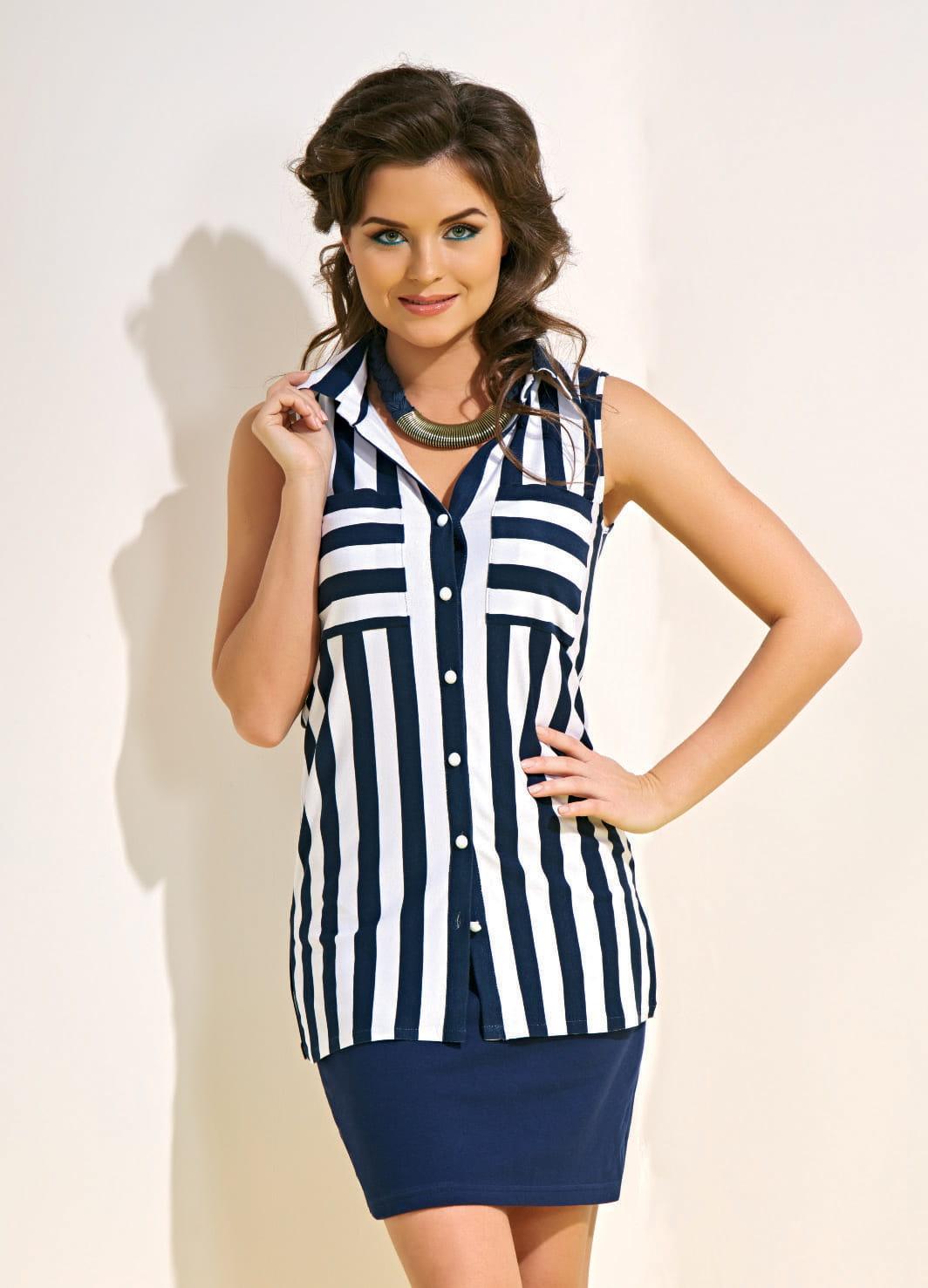 Полосатая блузка TopDesign А4 123