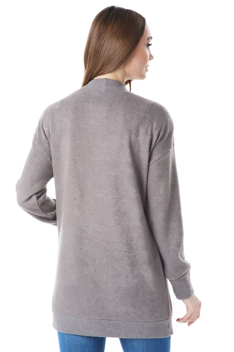 Шерстяной жакет цвета капучино Lala Style1441