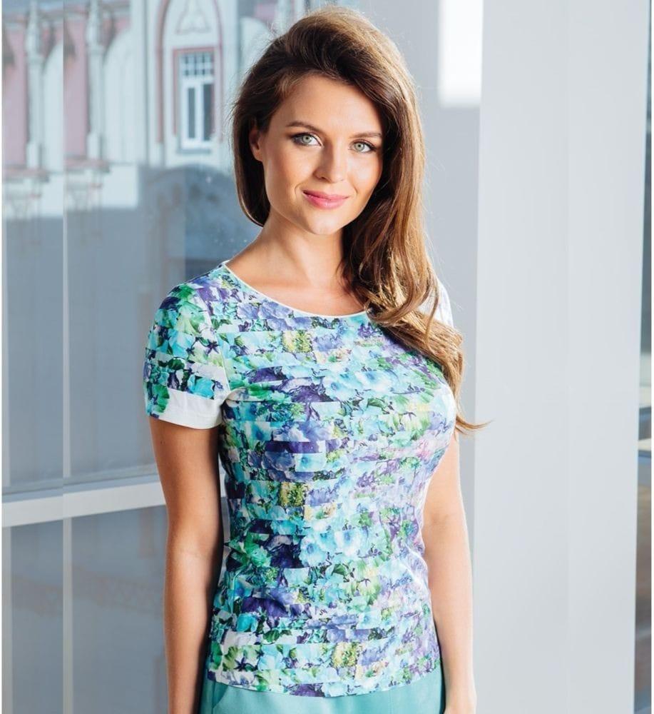 Стильная блузка Top Design А7 007