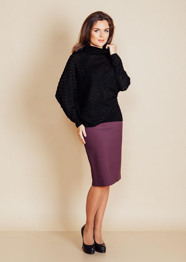 Модный ассиметричный женский джемпер Top Design B6 117