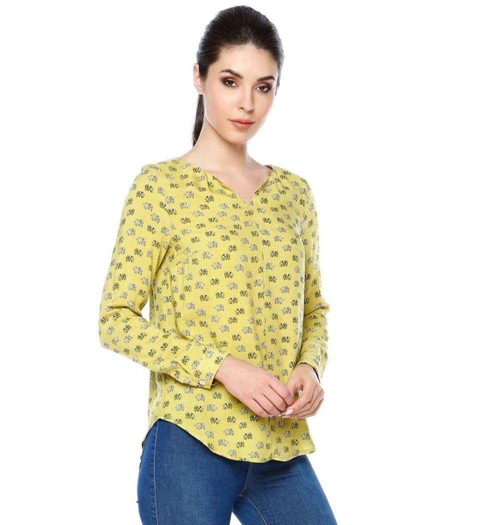 Стильная хлопковая блузка LalaStyle 1339-194