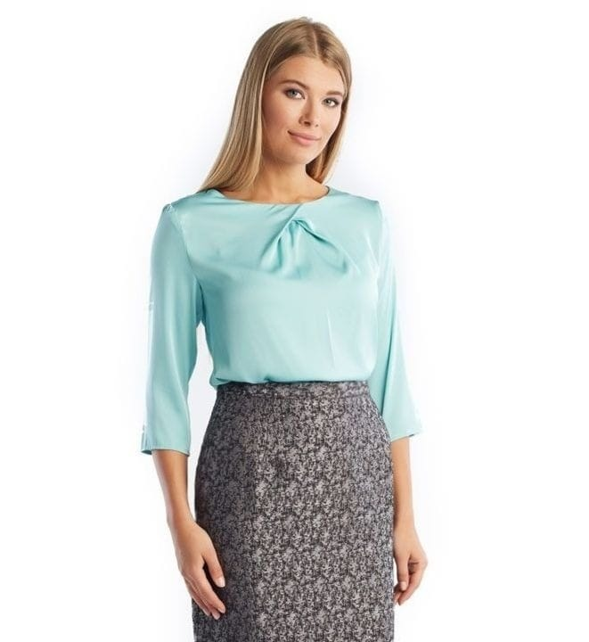 Блузка   серо-зеленого цвета LalaStyle 1274-235