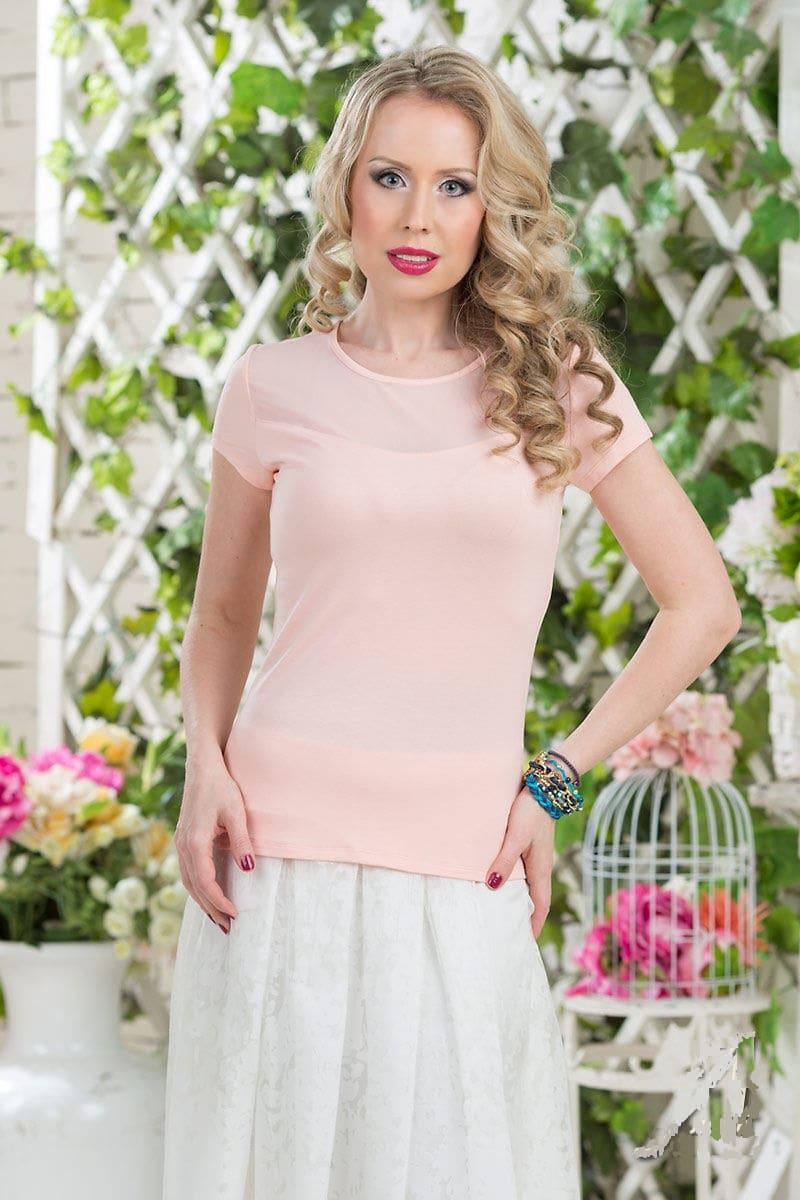 Блузка персикового цвета LalaStyle 758