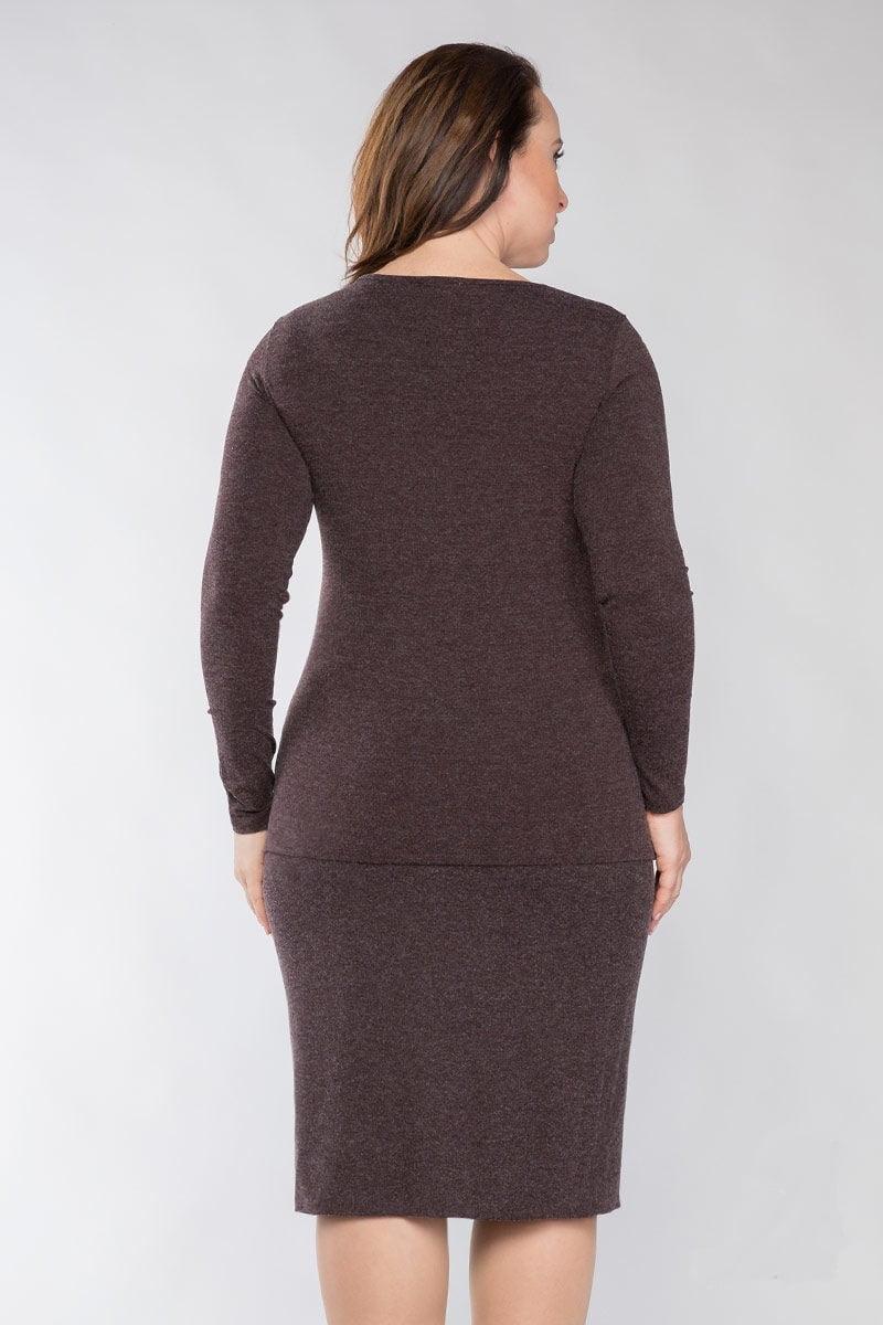 Женская блузка с декольте LalaStyle 1113
