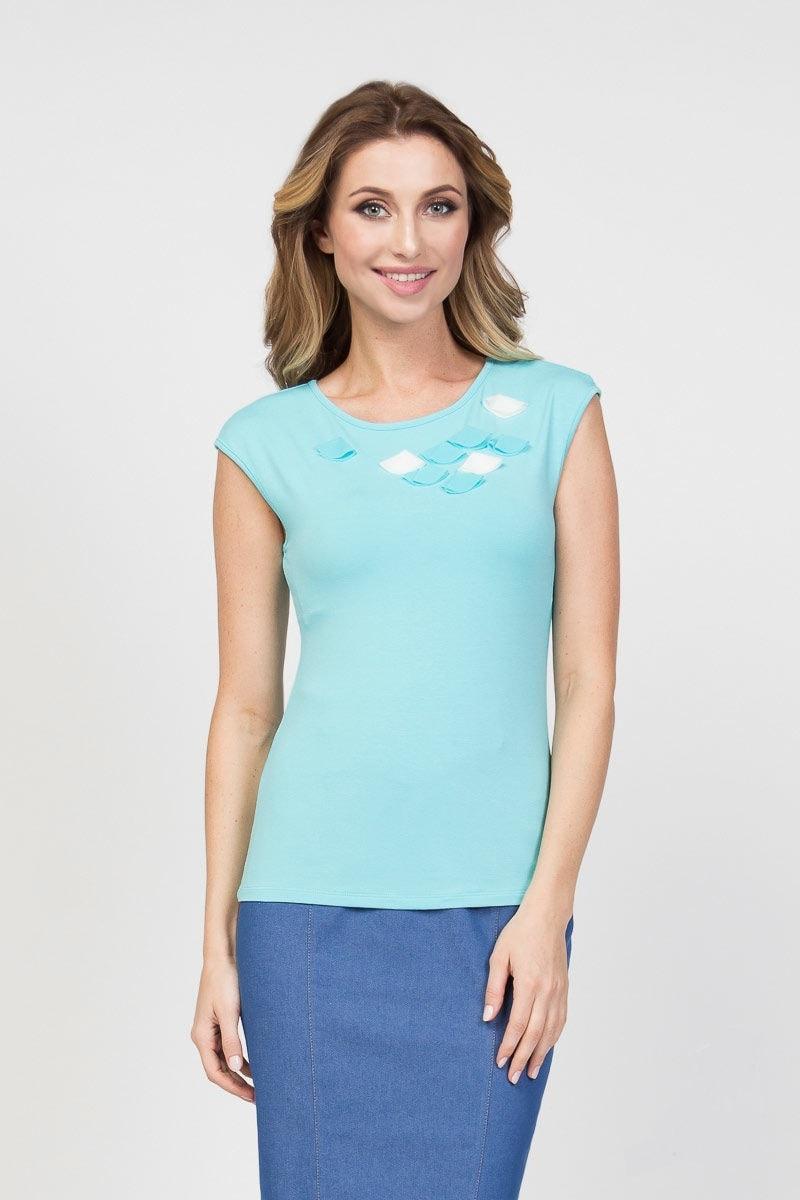 Голубая блузка LalaStyle 1210