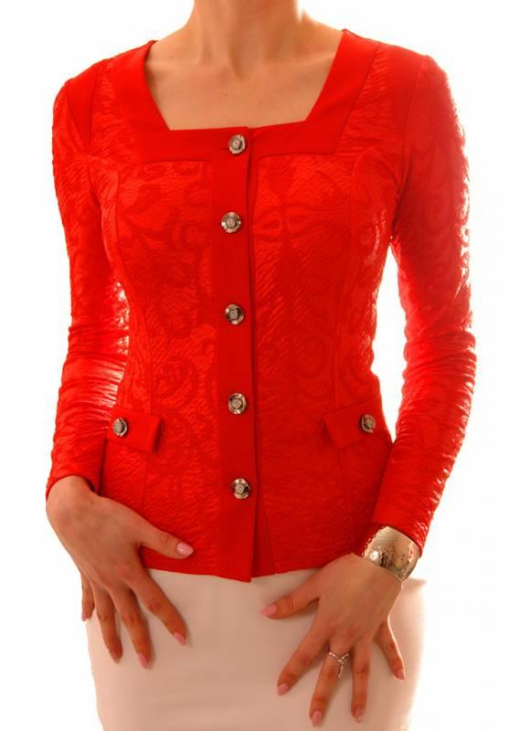 Классическая красная блузка The Distinctive 141