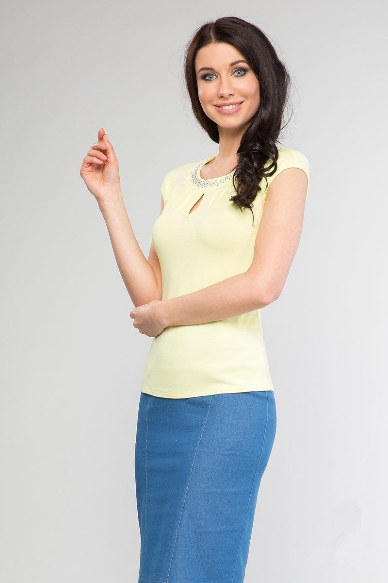 Желтая летняя блузка Лала Стайл 948