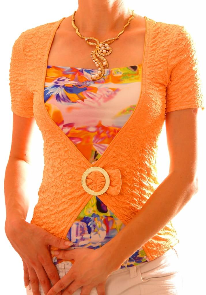 Летняя яркая блузка TheDistinctive 049